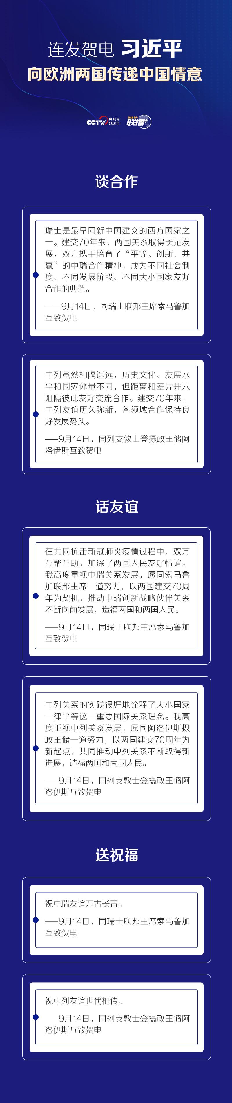 联播+丨连发贺电 习近平向欧洲两国传递中国情意